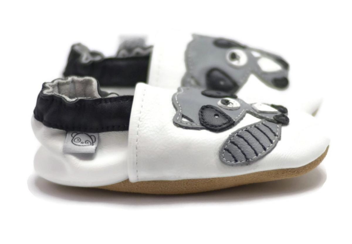 Tøffel vaskebjørn hvit panda feet