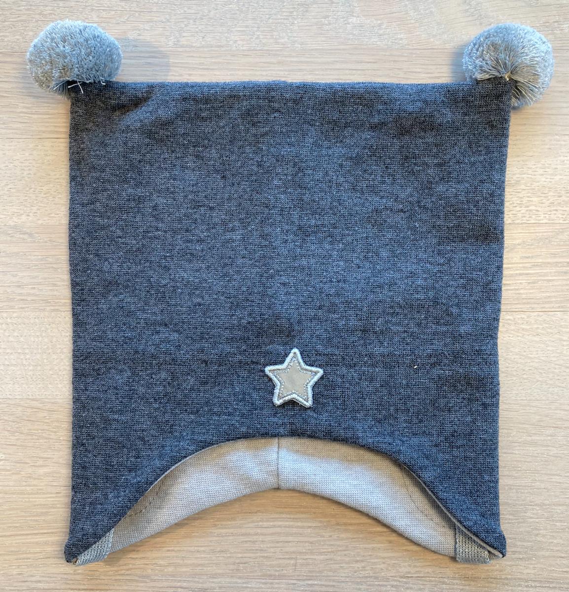 Lue cotwool knytting koksgrå med stjerne