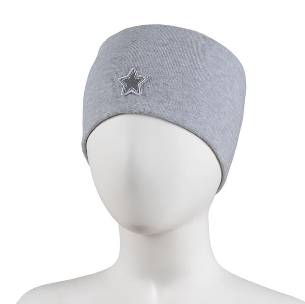 Bilde av Pannebånd lys grå med stjerne