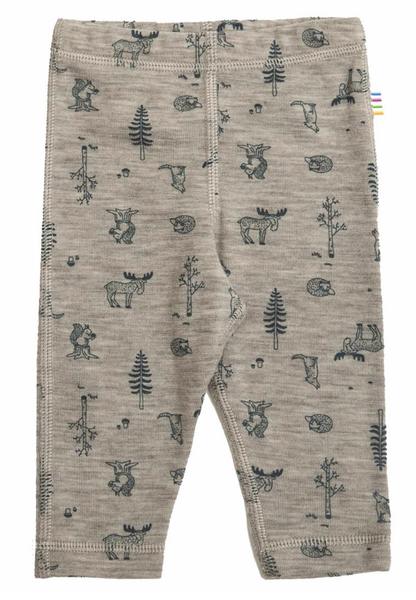Bilde av leggings ull beige dyr/skog