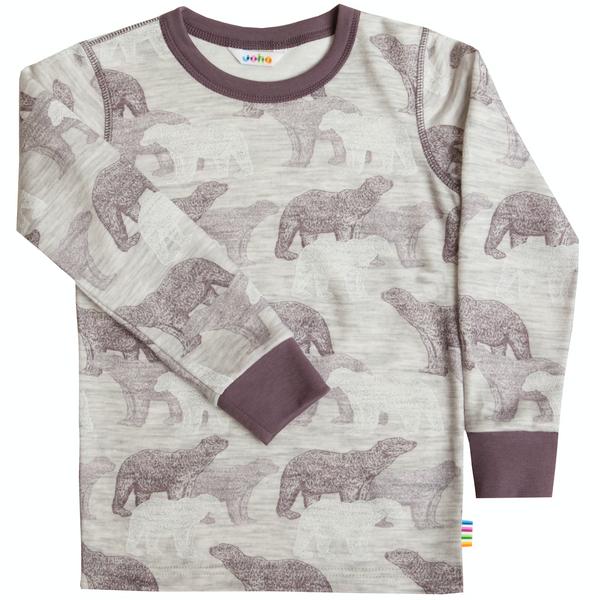 Bilde av genser ull/bambus isbjørn