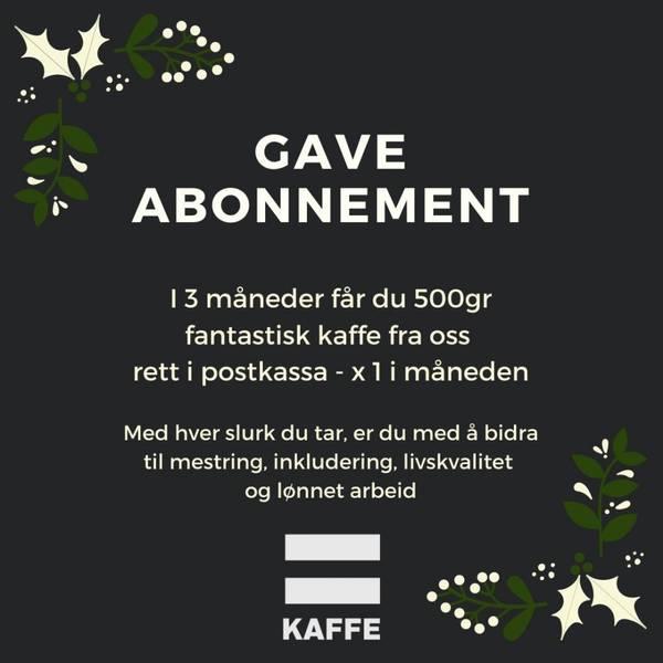 Gaveabonnement 500g