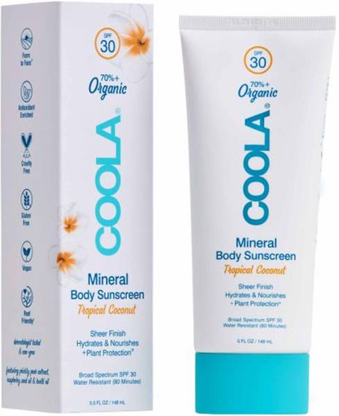 Mineral Body Organic Sunscreen Lotion SPF 30- Tropical Coconut