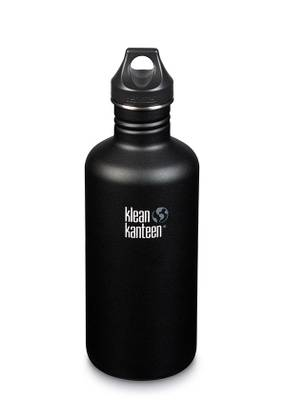 KLEAN KANTEEN CLASSIC SPORT CAP DRIKKEFLASKE 1182 ml SHALE BLACK