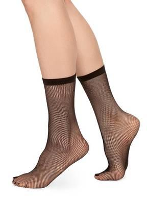 SWEDISH STOCKINGS Liv Net Sock Black