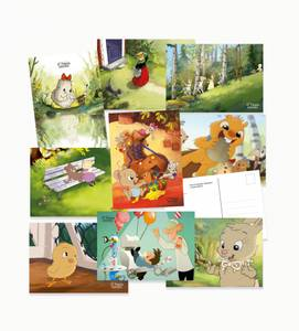 Bilde av Postkortpakke Alf Prøysen barnesanger