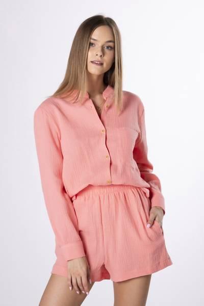 EXCLUSIVE Sett Skjorte+Shorts Aprikos