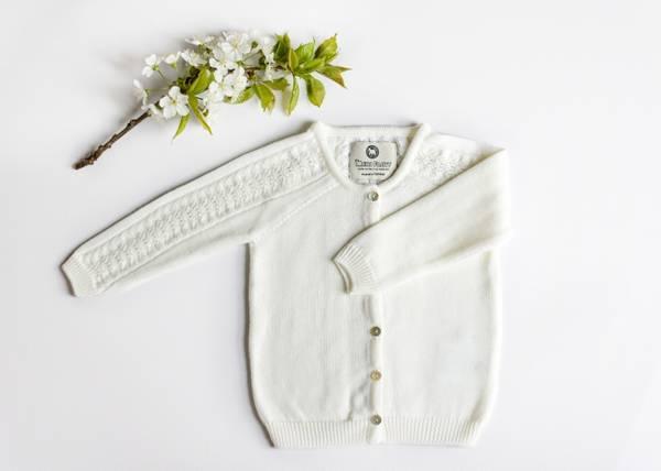 Bilde av Cardigan Delaine i merinoull, hvit