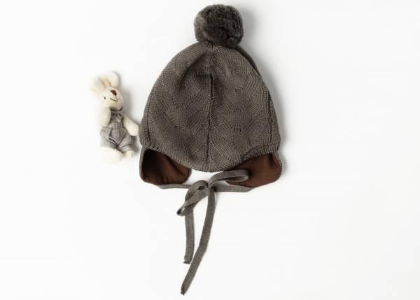 Bilde av Lue Norfolk i merinoull med bomullsfôr, brun