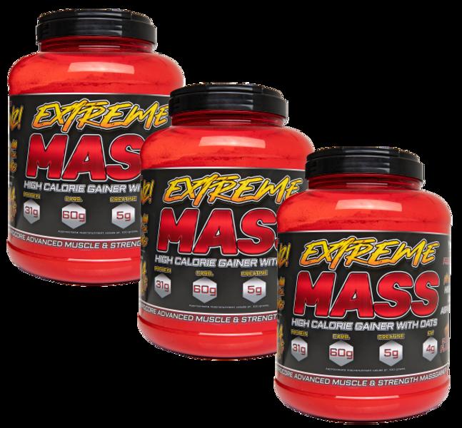 3 x 3 kg Extreme Mass - Hardcore Mass Gainer