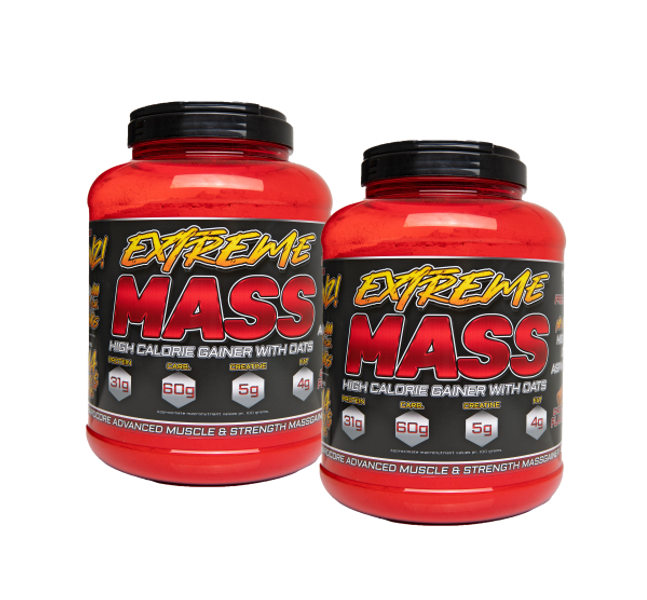 2 x 3 kg Extreme Mass - Hardcore Mass Gainer