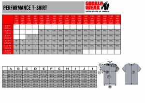 Bilde av Gorilla Wear Performance T-shirt - Sort t-skjorte