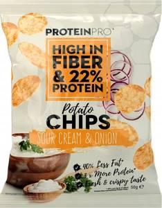 Bilde av ProteinPro Chips 50g - Sour Cream & Onion