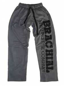 "Bilde av Brachial Pants ""Gym"" Dark Greymelange / Black -"