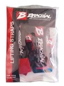 """Bilde av Brachial Lifting Straps """"Drag"""" Black/Red"""