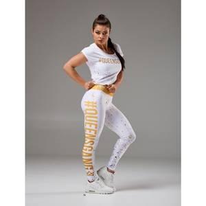 Bilde av Live & Fight Women's Leggings - Fancy White &
