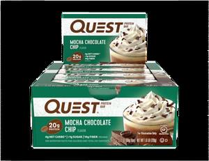 Bilde av Quest Protein Bar 12x60g - Mocha Chocolate Chip