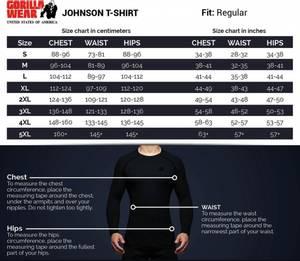 Bilde av Gorilla Wear Johnson T-skjorte Sort