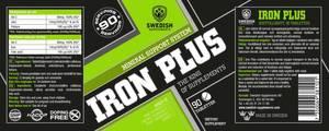 Bilde av Swedish Supplements Iron Plus 90 stk - Mineraler