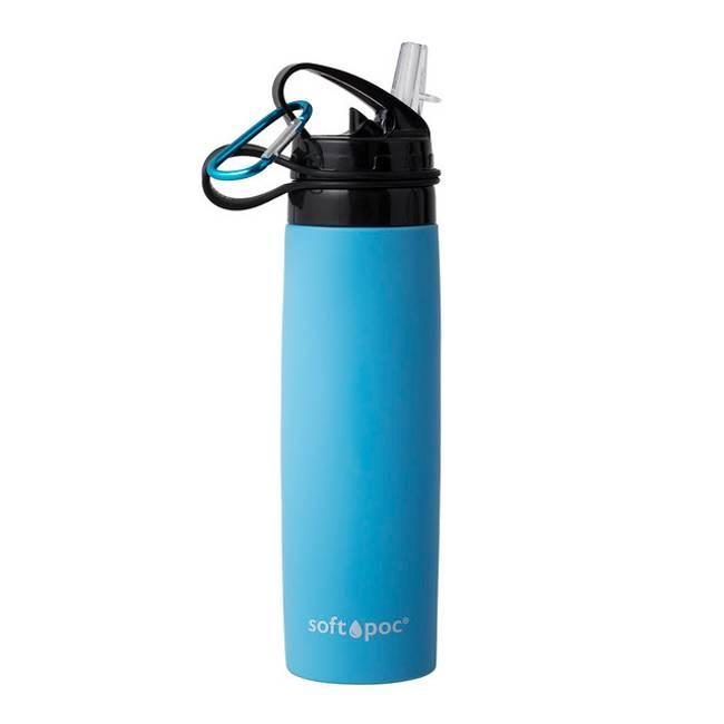 Soft Poc sammenleggbar drikkeflaske Blå