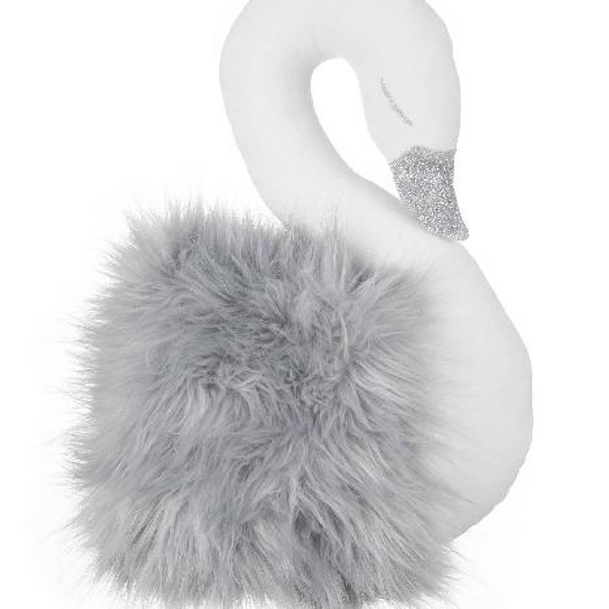 Hvit svane med grå pels, veggdekor fra Cotton & Sweets