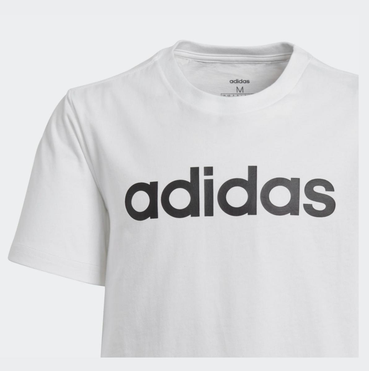 Hvit Adidas YB E Lin T-skjorte