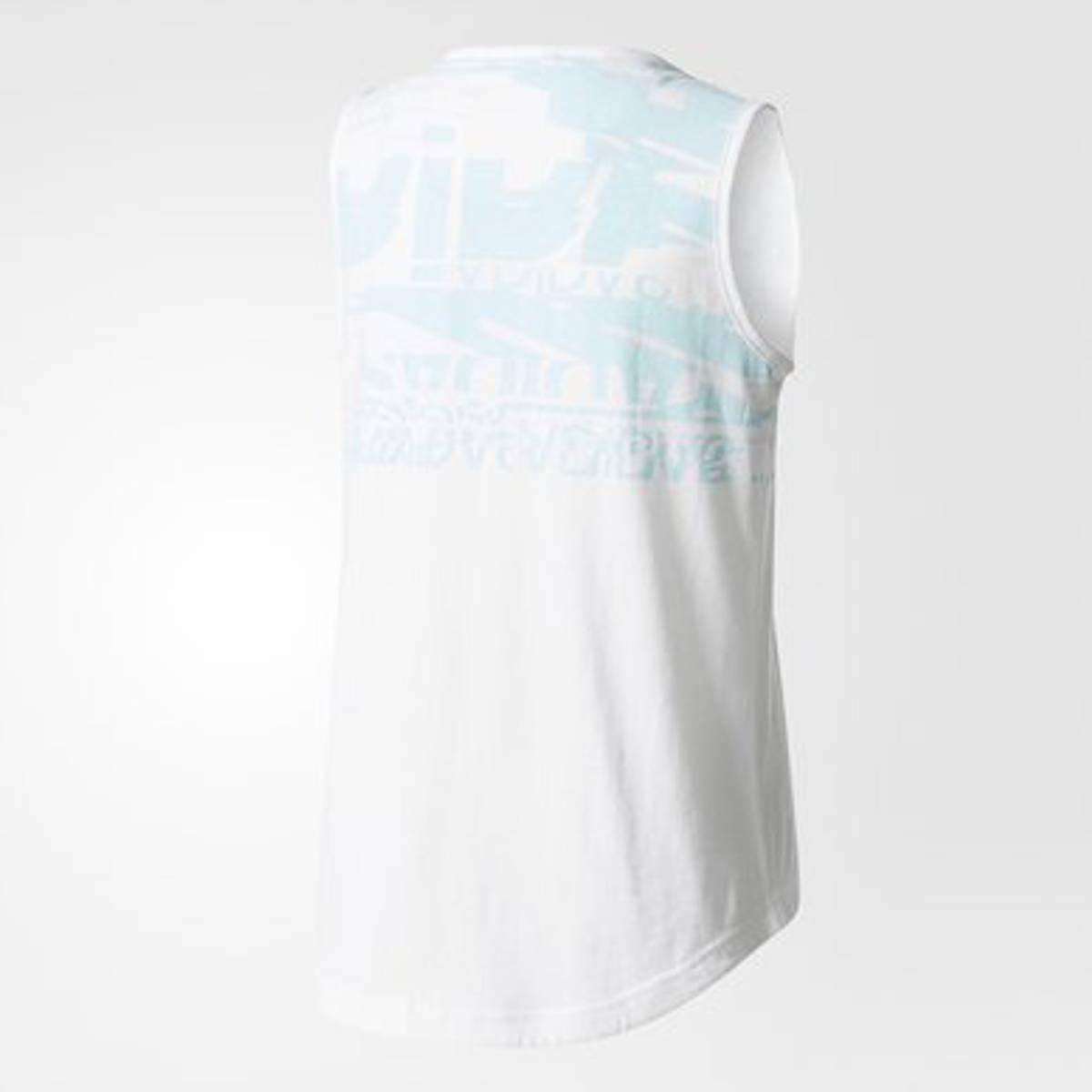 Adidas Girls Sport ID Tee - Hvit/blå