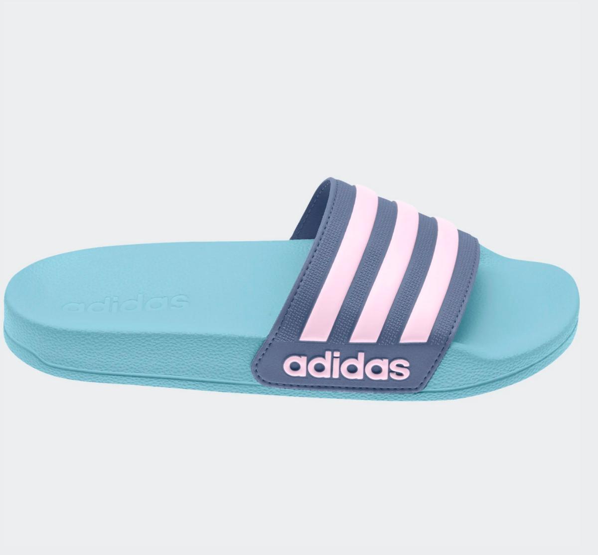 Turkis/Blå Adidas Adilette Sandaler