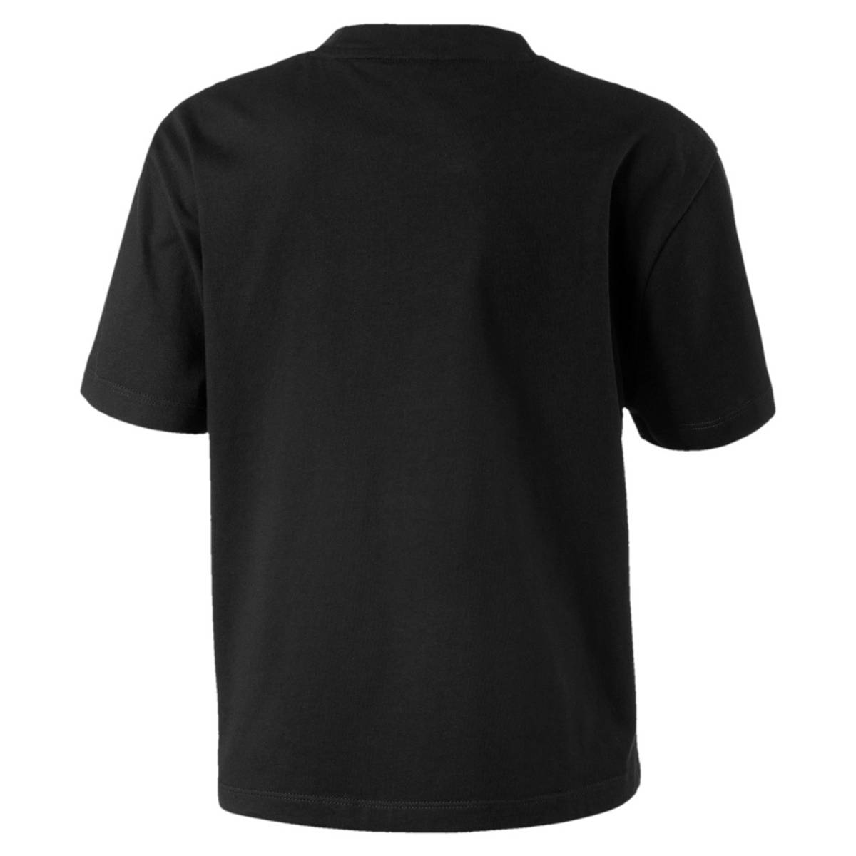 Sort Puma Alpha Aop Tee Girl T-skjorte