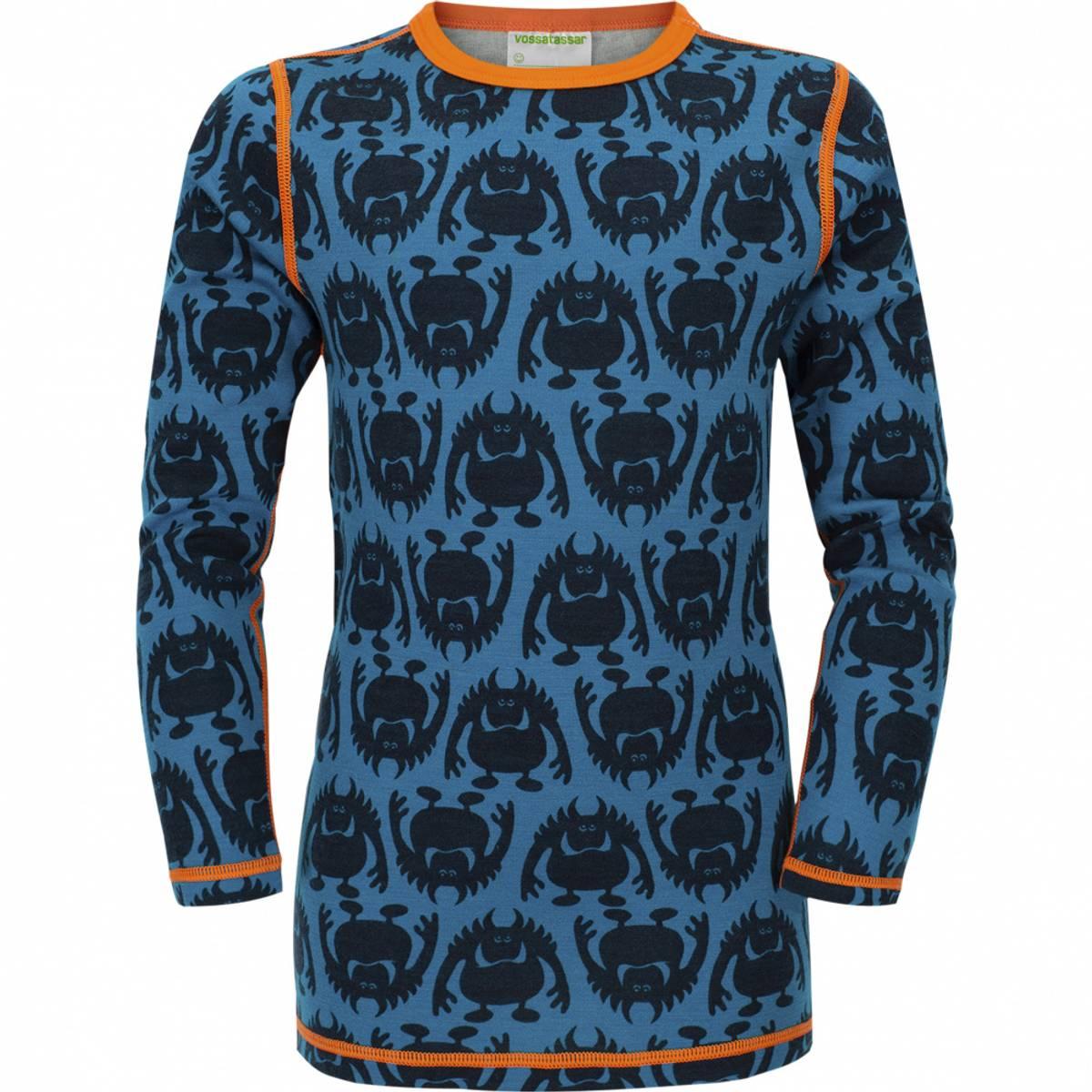 Blå Vossatassar Monsterull trøye