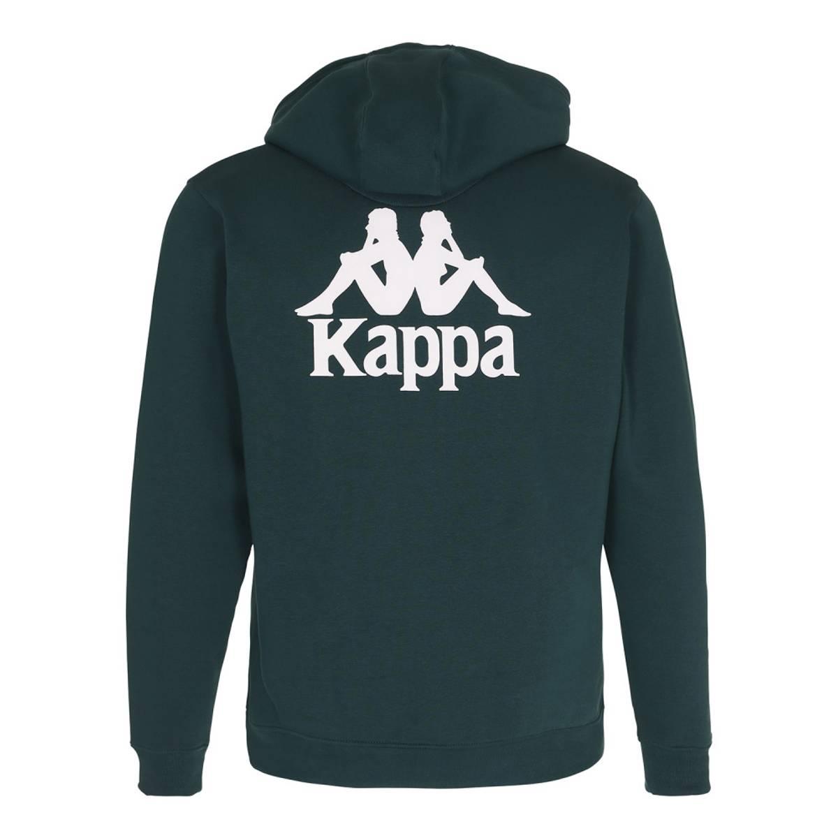 Mørk Grønn Kappa Hoodie Hettegenser