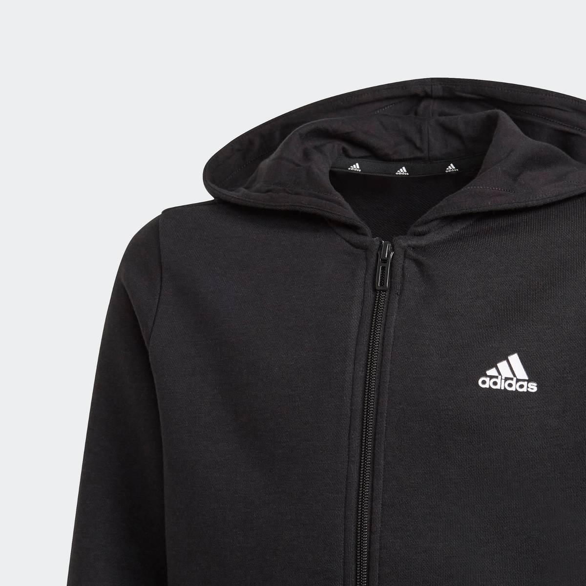 Sort B LIN FZ HD Adidas Zip Hettegenser