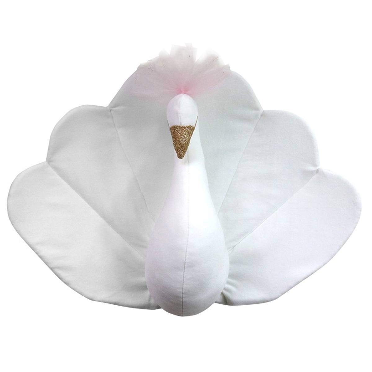 Påfugl i fløyel, hvit