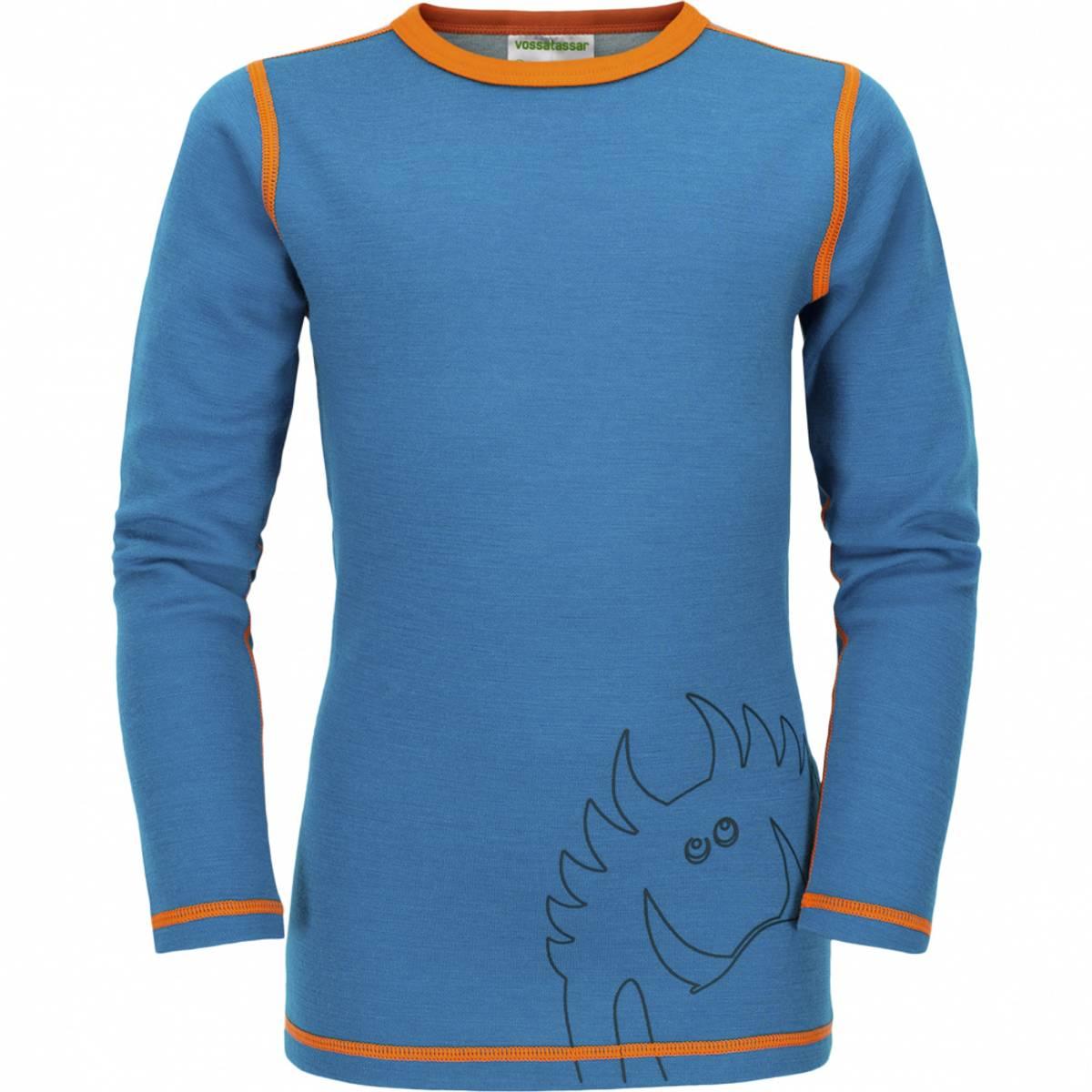 Blå Vossatassar Solid trøye