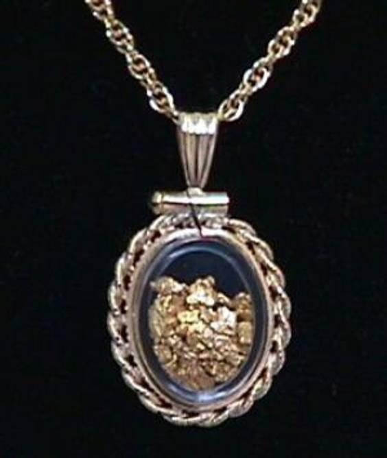 Bilde av Oval smykkeinfatning for gull