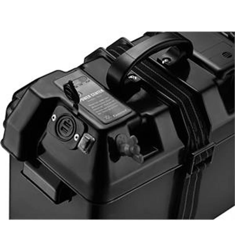 Bilde av Batteriboks m/elektronikk og 2USB uttak