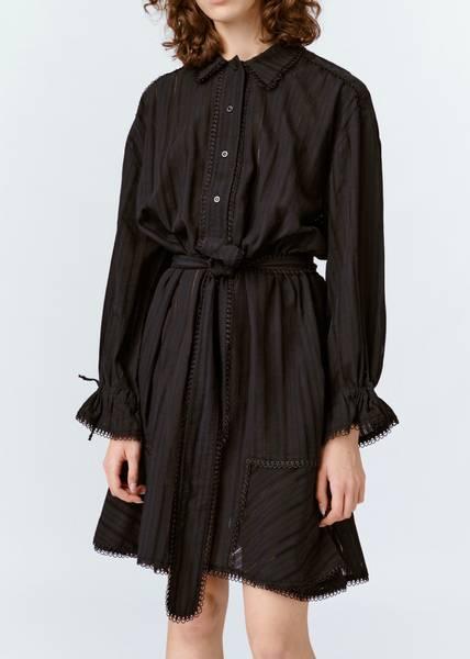Bilde av MUNTHE - Peach Dress Black