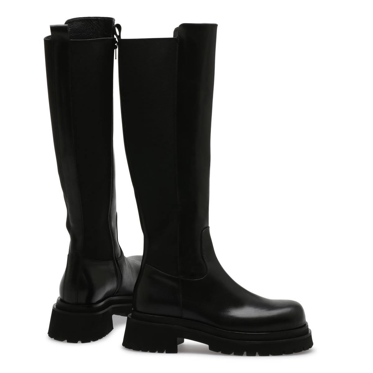 NUDE - Ulrika Long Boots Tequila / Nero