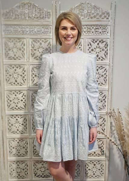Bilde av BYTIMO - Linen Mini Dress