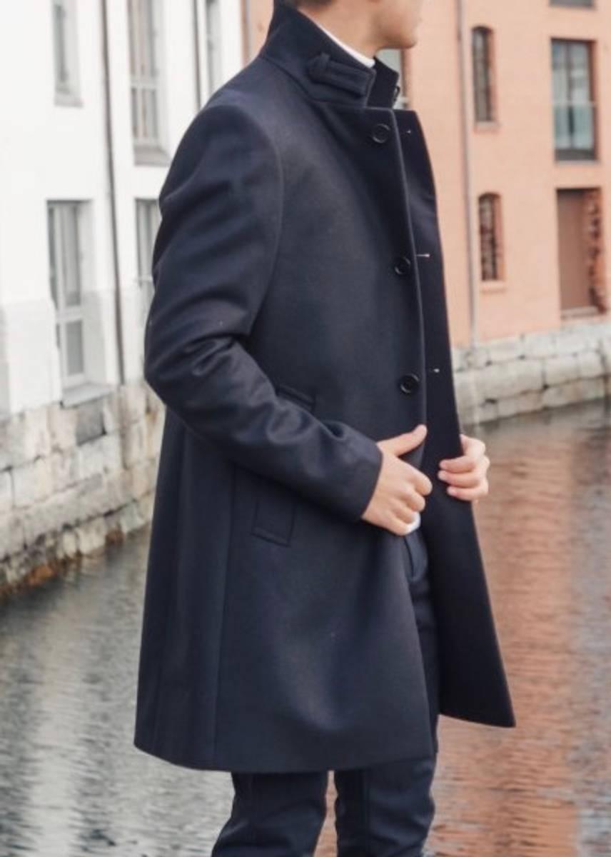 J.LINDEBERG - Holger Compact Melton Coat Black