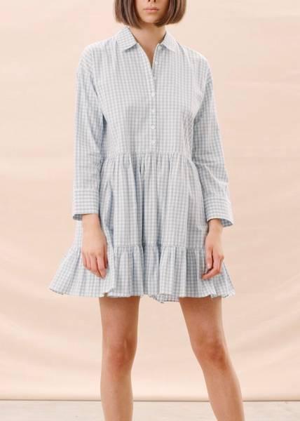 Bilde av BYTIMO - Checks Shift Dress