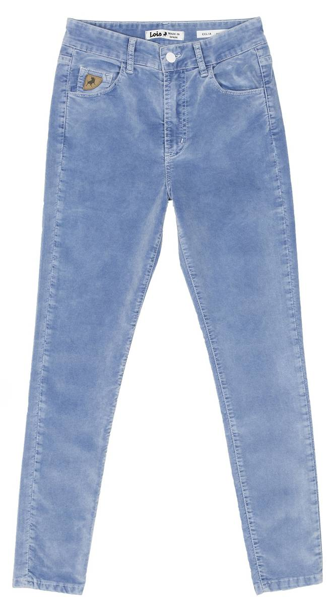LOIS - Celia Cropped Pants 34 Chinon Sky Bleach Velour