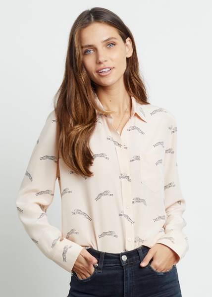 Bilde av RAILS - Kate Silk Shirt Blush
