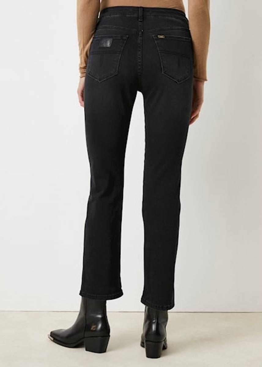 LOIS - Malena F Straight 34 Jeans Jossie Night Black Stone