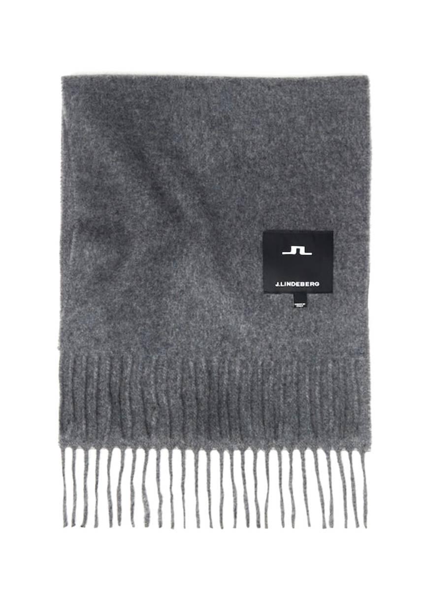 J.LINDEBERG - Champ Solid Wool Scarf Grey Melange