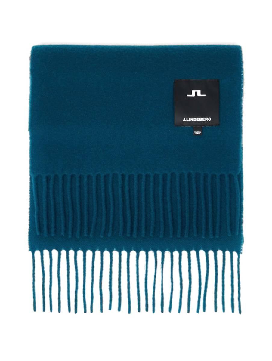 J.LINDEBERG - Champ Solid Wool Scarf Majolica Blue
