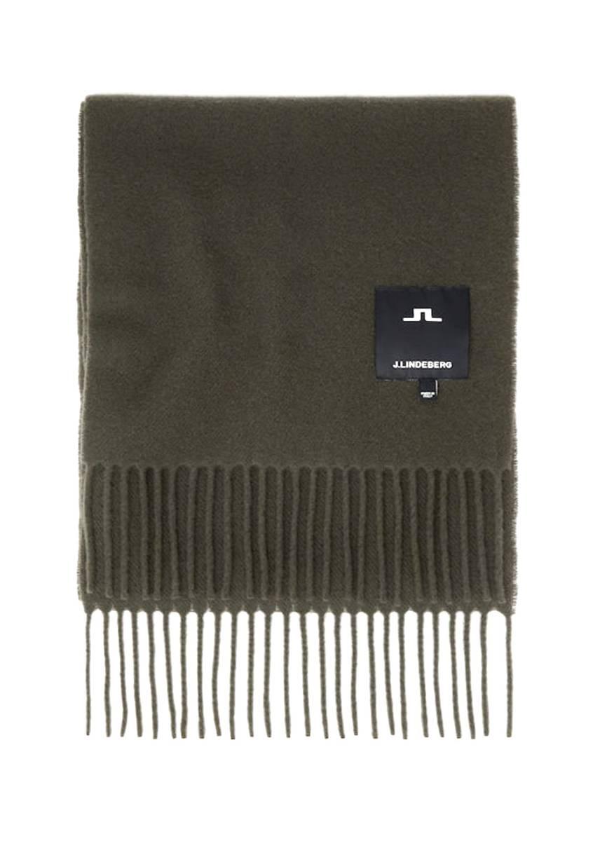 J.LINDEBERG - Champ Solid Wool Scarf Seaweed Green