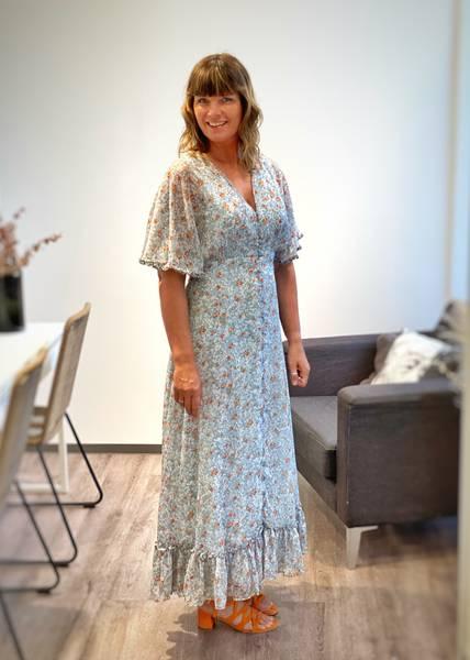 Bilde av BYTIMO - Chiffon Gown Blue