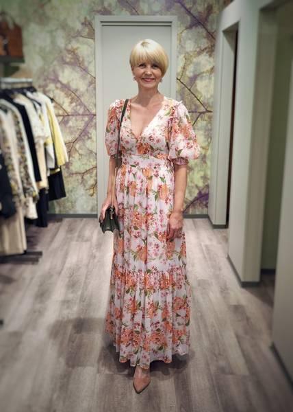 Bilde av BYTIMO - Chiffon Gown Lilac
