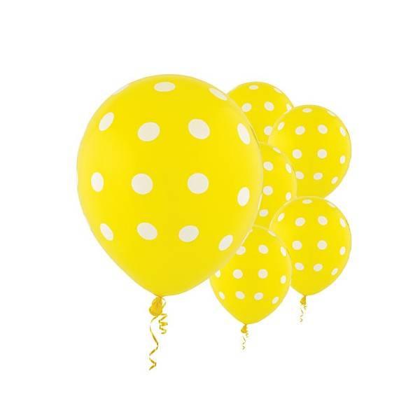 Ballonger 6-pk gul